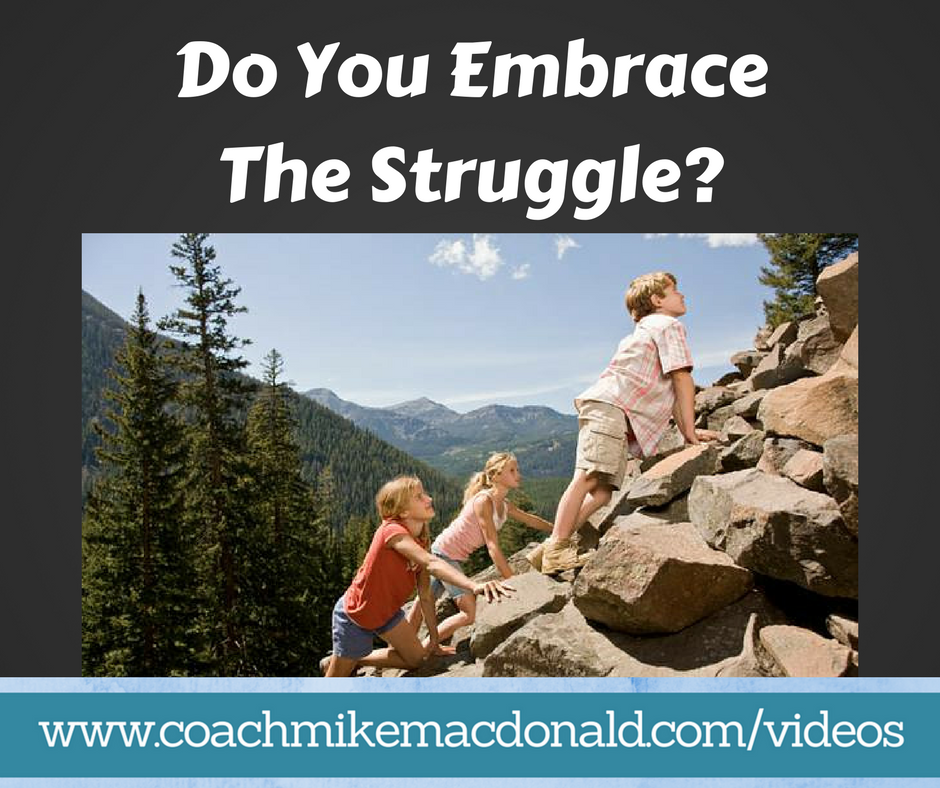 Do you embrace the struggle, mindset, success, goals, leadership, leadership development